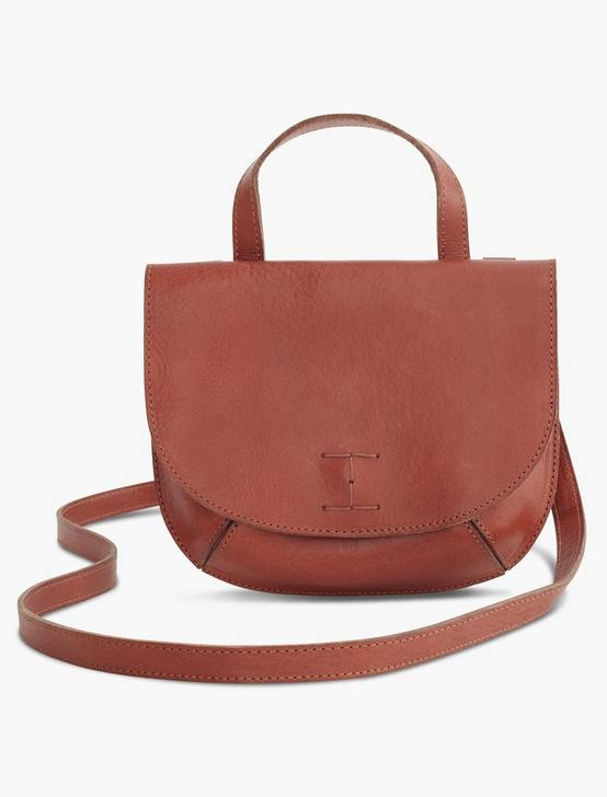 POINT LEATHER DOUBLE POCKET CROSSBODY, COGNAC, productTileDesktop