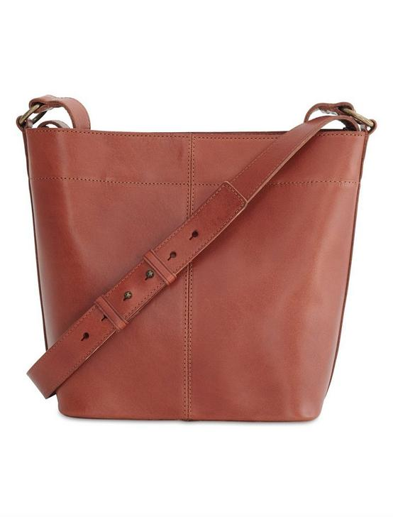 POINT LEATHER SATCHEL, COGNAC, productTileDesktop