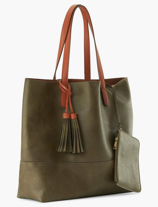FRINGE TASSEL TOTE, MEDIUM LIGHT GREEN, productTileDesktop
