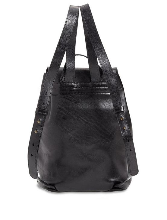 POINT LEATHER BACKPACK, BLACK, productTileDesktop