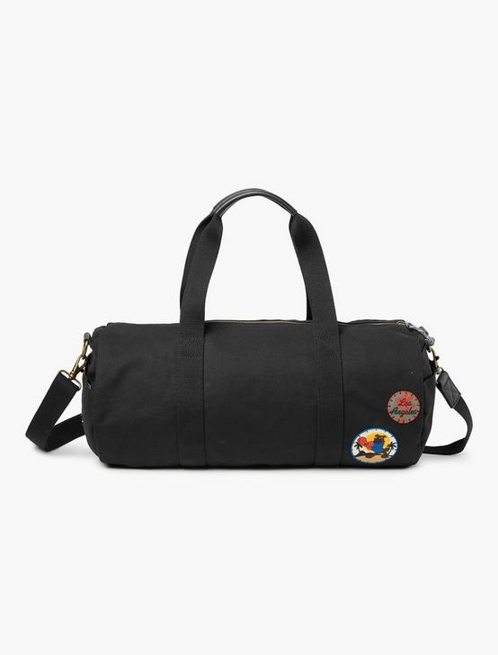 PATCH MEN'S DUFFLE BAG, BLACK, productTileDesktop