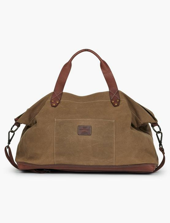 WAXED CANVAS WEEKENDER, OLIVE/BROWN, productTileDesktop