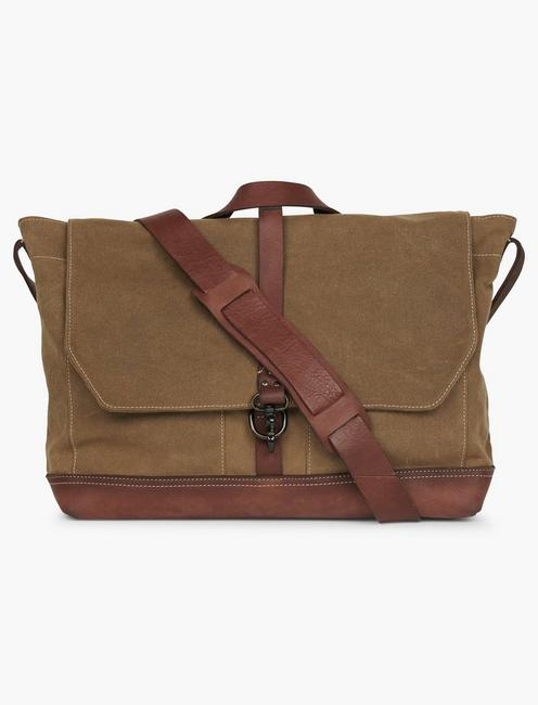 Lucky Waxed Canvas Messenger Bag