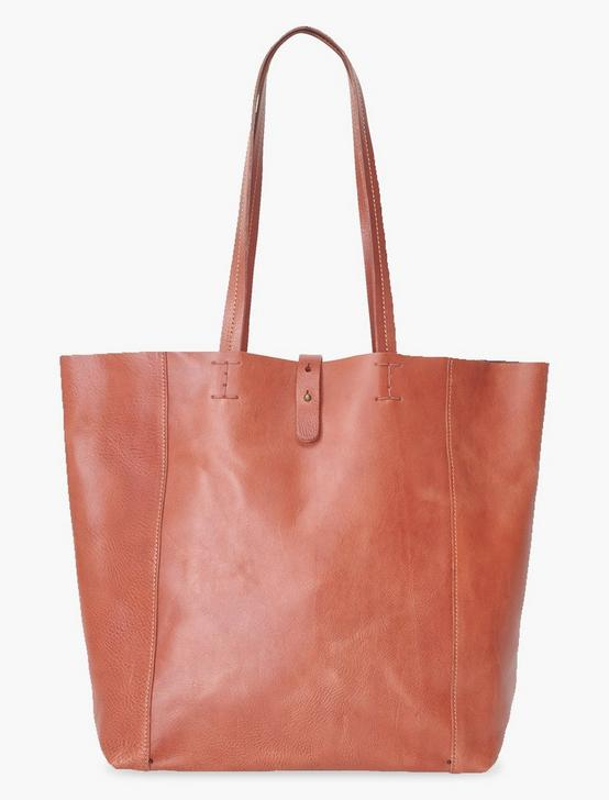 THE POINT LEATHER TOTE, COGNAC, productTileDesktop