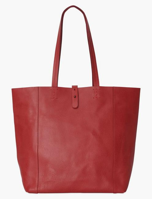 THE POINT TOTE, POPPY RED