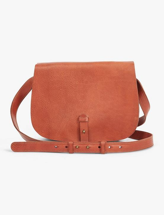 THE POINT LEATHER SADDLE BAG, COGNAC, productTileDesktop