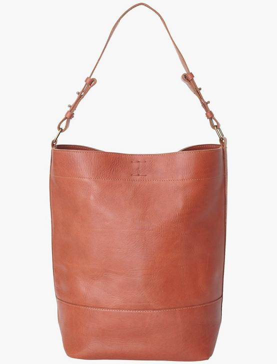 THE POINT LEATHER HOBO BAG, COGNAC, productTileDesktop