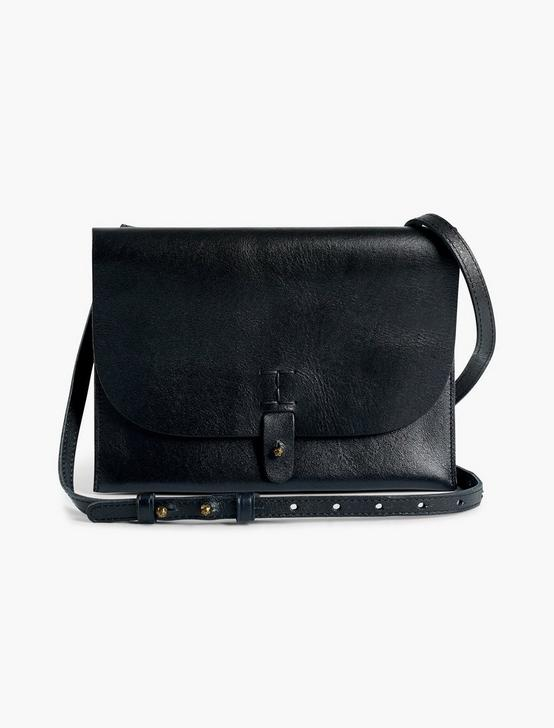 THE POINT LEATHER CROSSBODY BAG, BLACK, productTileDesktop