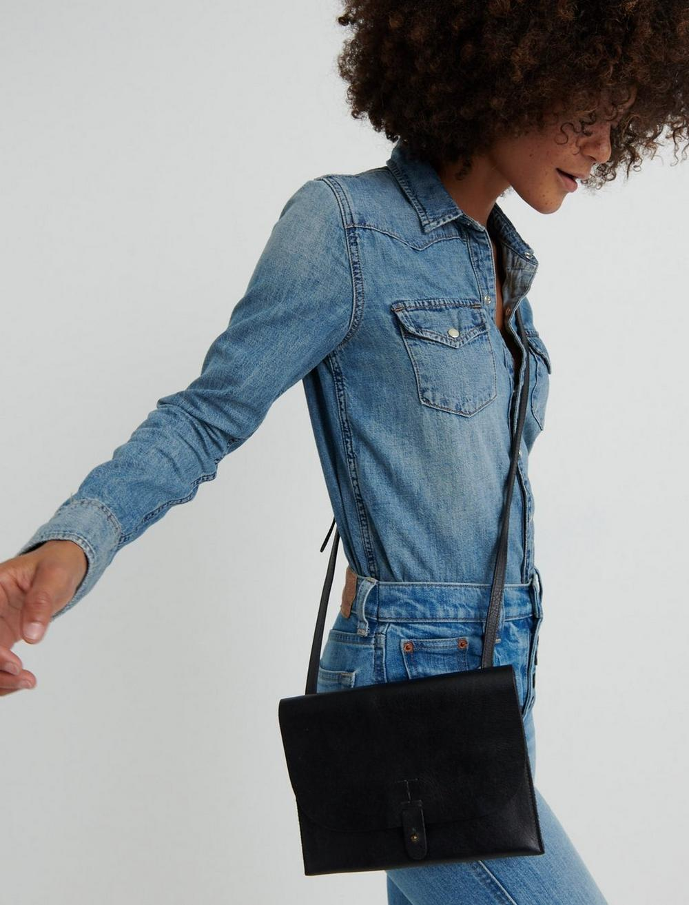 THE POINT LEATHER CROSSBODY BAG, image 2