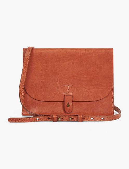 THE POINT LEATHER CROSSBODY BAG, COGNAC