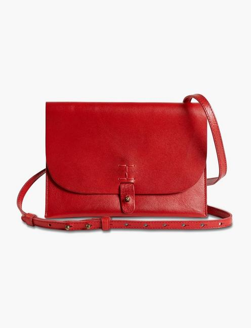 THE POINT LEATHER CROSSBODY BAG,