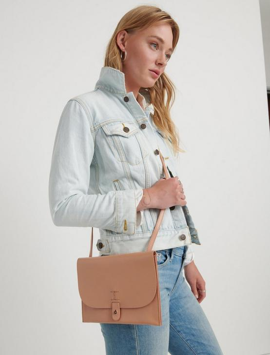 THE POINT LEATHER CROSSBODY BAG, BLUSH, productTileDesktop