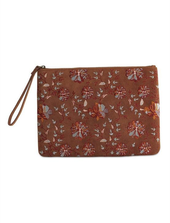 FLORAL EMBROIDERED CLUTCH BAG, MULTI, productTileDesktop