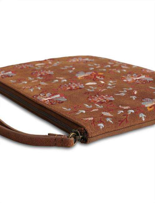 FLORAL EMBROIDERED CLUTCH, MULTI