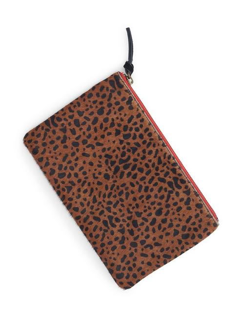 MIXED MATERIAL COLORBLOCK, LEOPARD PRINT