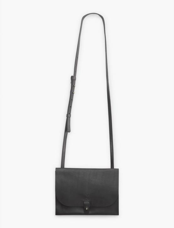 LEATHER CROSSBODY BAG, BLACK, productTileDesktop