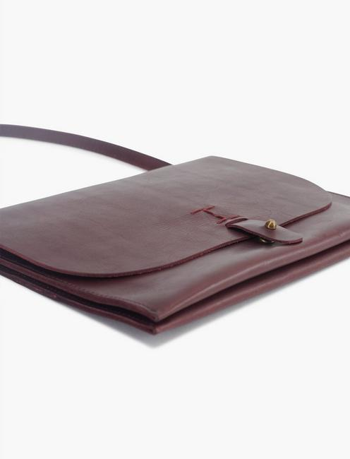 LEATHER CROSSBODY, PLUM