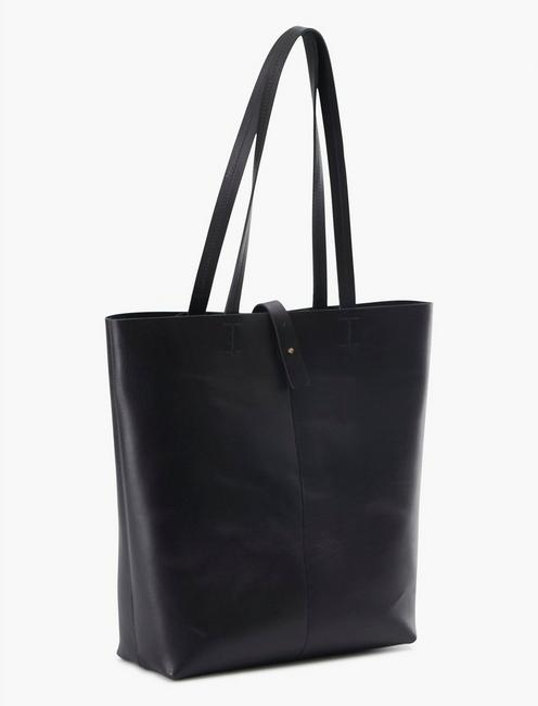 THE POINT LEATHER TOTE BAG, BLACK