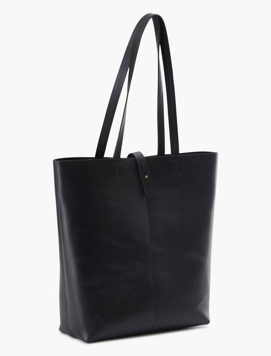 THE POINT LEATHER TOTE BAG, BLACK, productTileDesktop