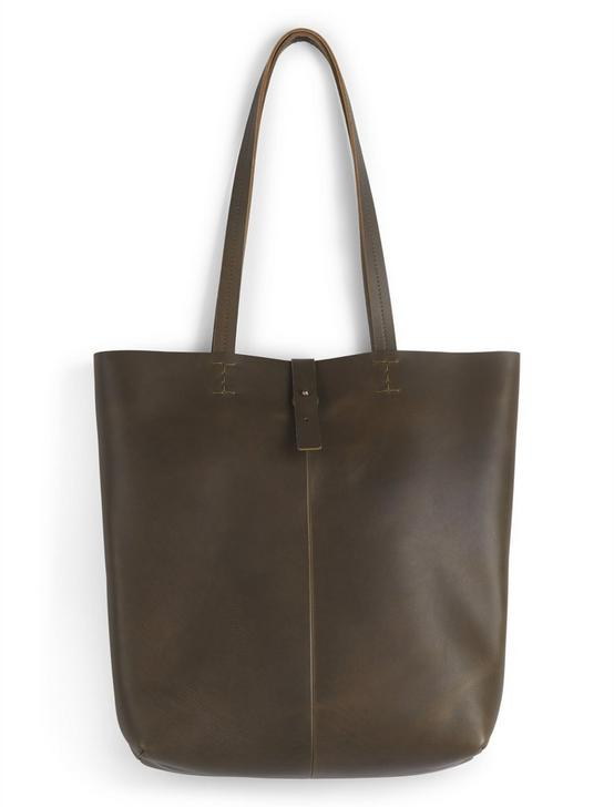 THE POINT LEATHER TOTE BAG, 378 OLIVE, productTileDesktop