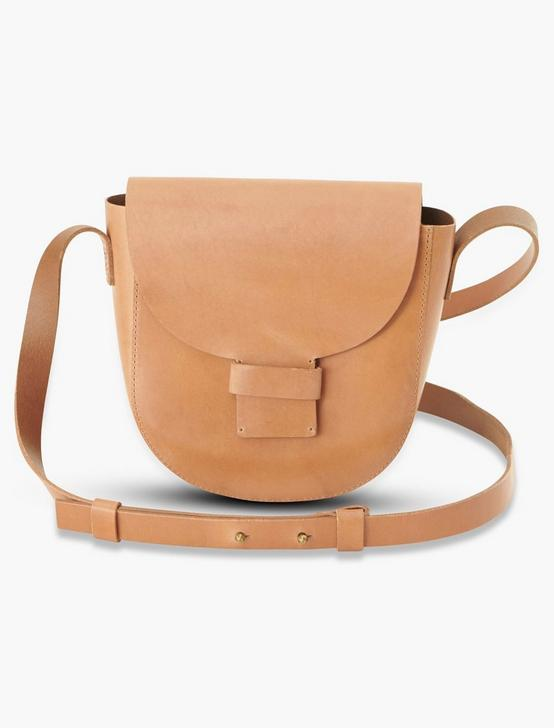 MINI SADDLE BAG CROSSBODY, TAN, productTileDesktop