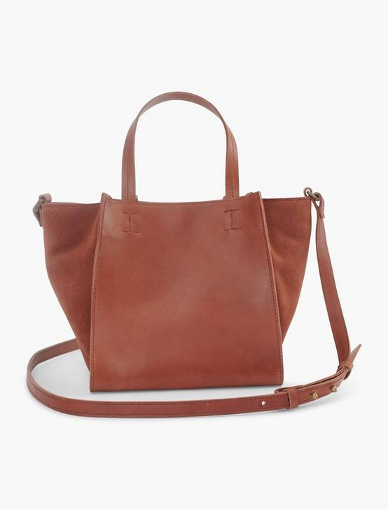 MINI SATCHEL LEATHER CROSSBODY, COGNAC, productTileDesktop