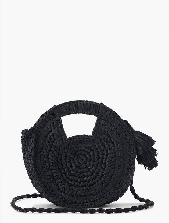WOVEN CROSSBODY BAG, BLACK, productTileDesktop