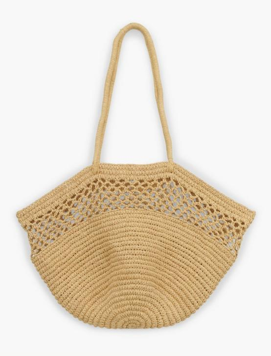 OPENWORK STRAW RAFIA TOTE BAG, #130 NATURAL, productTileDesktop