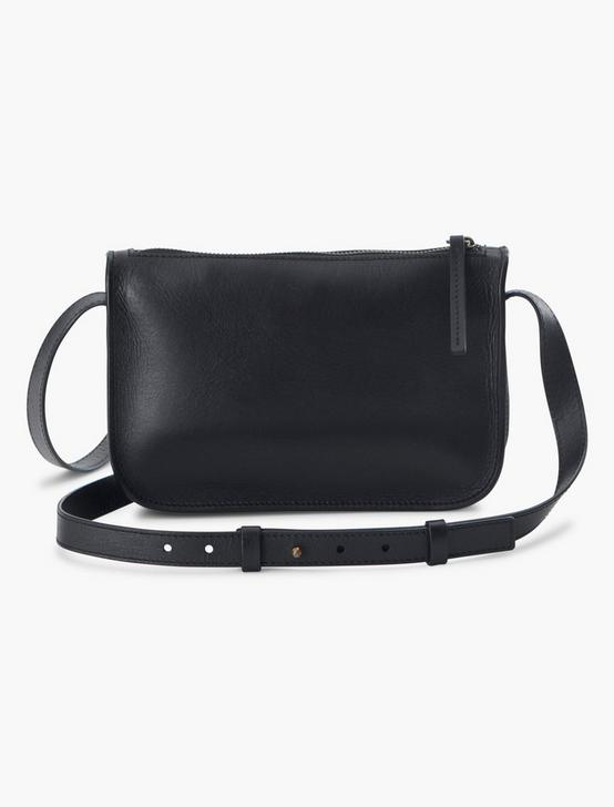 THE POINT LEATHER POCKET CROSSBODY BAG, BLACK, productTileDesktop