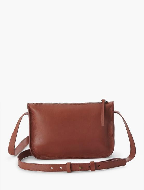 THE POINT LEATHER POCKET CROSSBODY BAG, COGNAC, productTileDesktop