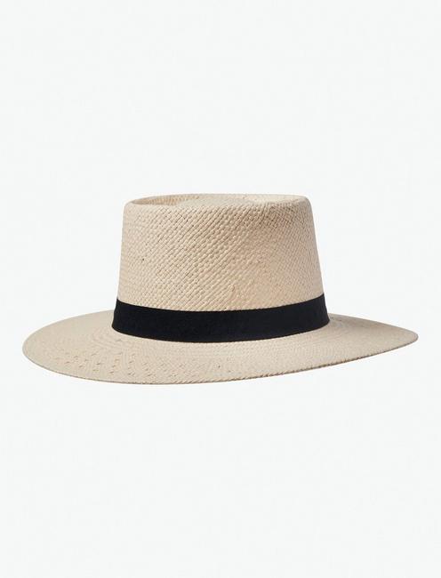 OPEN WEAVE BOATER HAT,