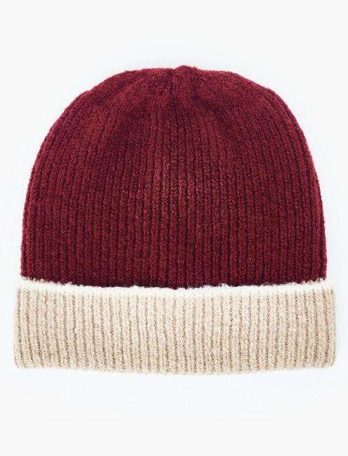 COLORBLOCKED BEANIE HAT,
