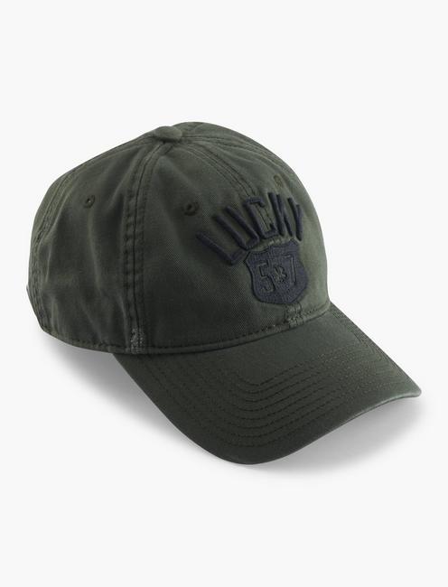 MEN'S LUCKY 57 HAT, DARK GREEN