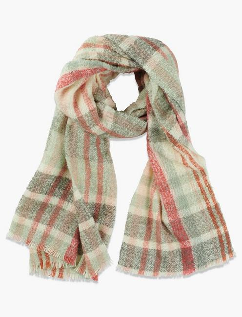 PLAID BOUCLE SCARF,