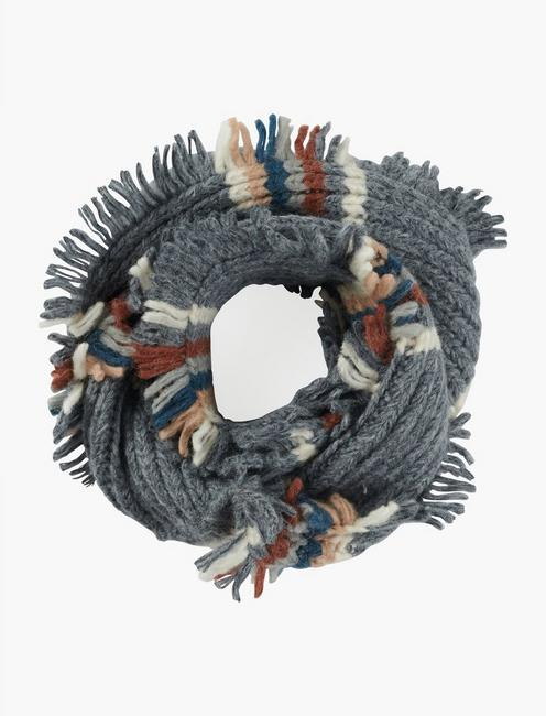 Lucky Striped Loop Scarf