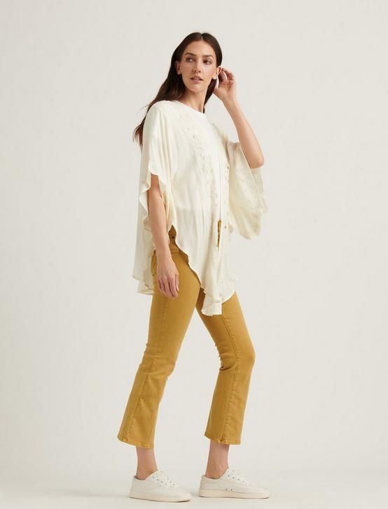 CUT OUT SCALLOP  KIMONO, CREAM, productTileDesktop