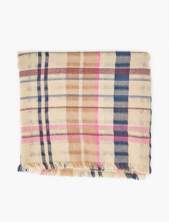 FRAYED PLAID SCARF, MULTI, productTileDesktop