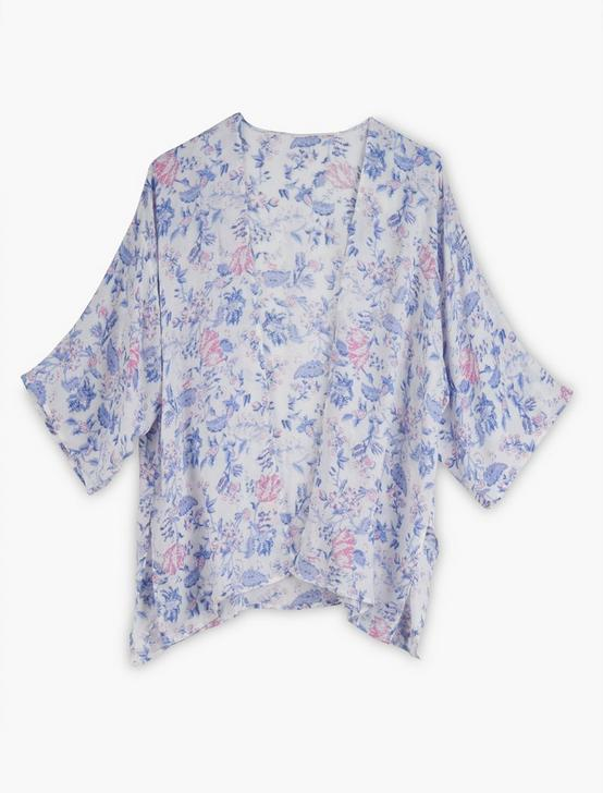 FLORAL PRINTED DUSTER KIMONO, MULTI, productTileDesktop