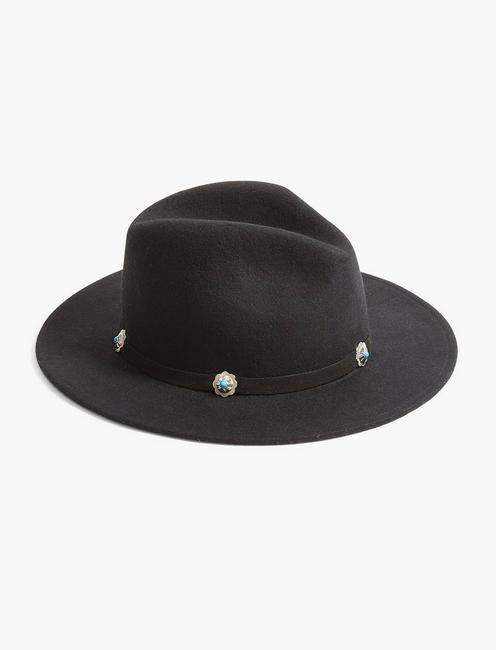 WESTERN TRIM RANGER HAT, BLACK