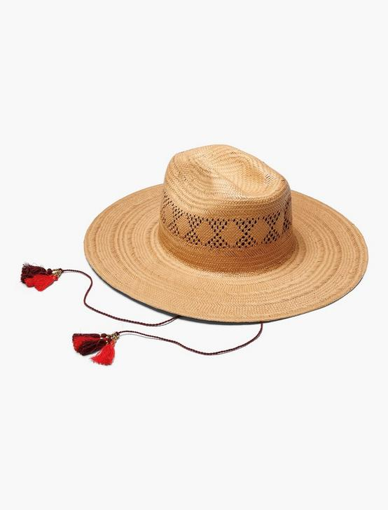 OPEN WEAVE STRAW HAT, NATURAL, productTileDesktop
