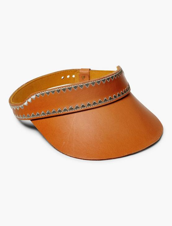 VACHETTA STITCHED VISOR, NATURAL, productTileDesktop