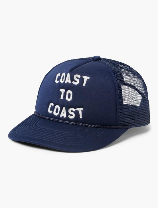 COAST TO COAST TRUCKER HAT, NAVY, productTileDesktop