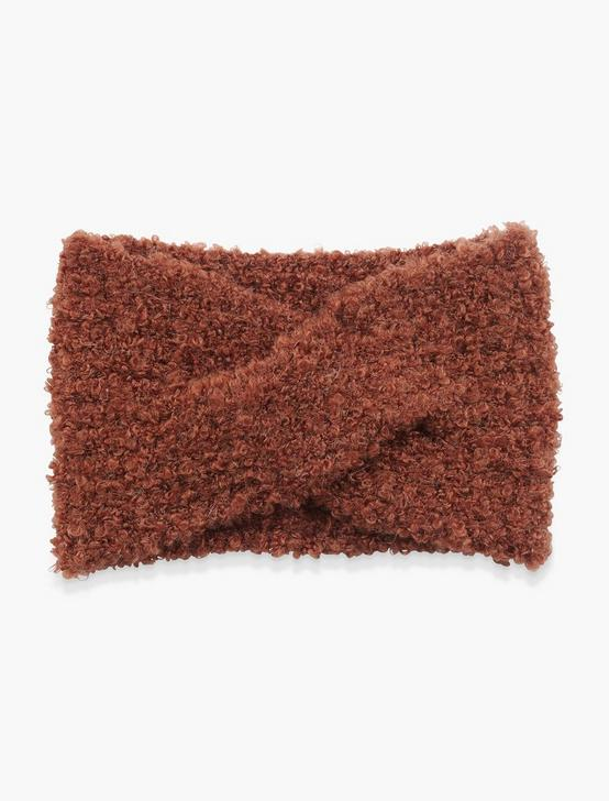 BOUCLE HEADBAND, RUST, productTileDesktop