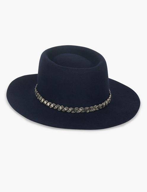 EMBELLISHED BOATER HAT,