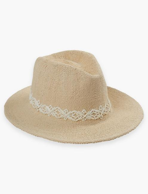 CREAM STRAW FEDORA,