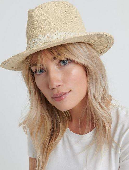 CREAM STRAW FEDORA, CREAM