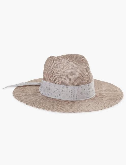 Scarf Trim Straw Hat
