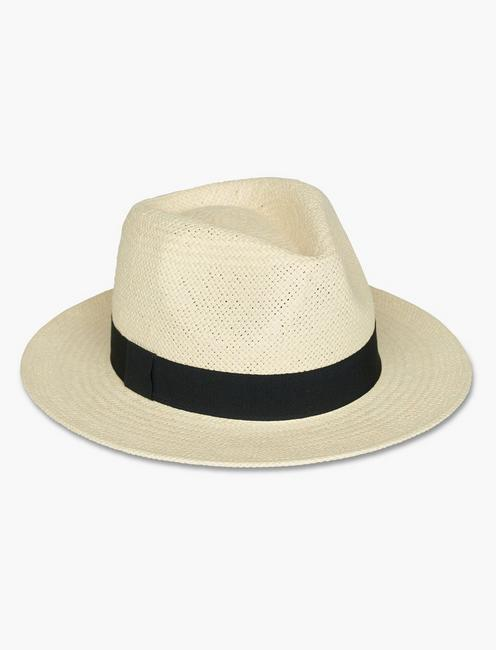 GROSGRAIN TRIM FEDORA HAT,
