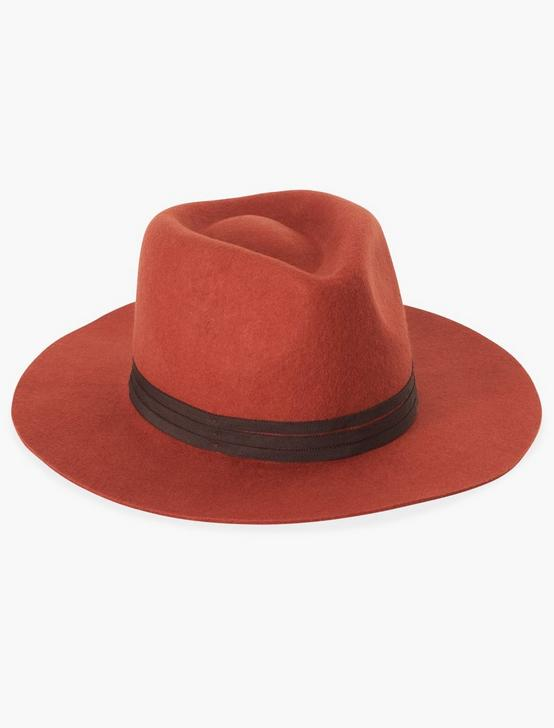 BURNT ORANGE WOOL HAT, SPICE, productTileDesktop