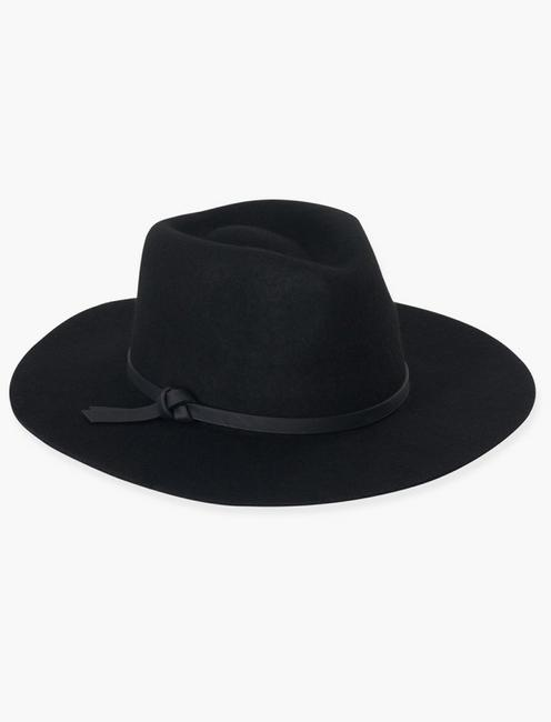 BLACK WOOL HAT,